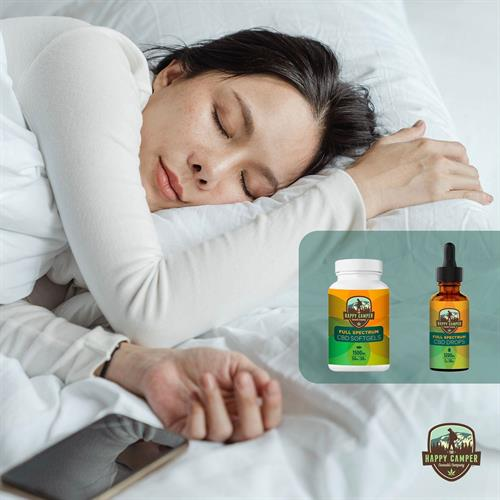Our customers sleep great with The Happy Camper CBD!