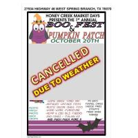 Honey Creek Market Days Presents 1st Annual Boo Fest and Pumpkin Patch