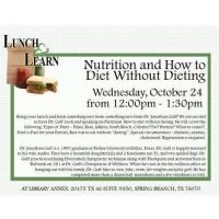 Lunch and Learn - Nutrition and How to Diet Without Dieting