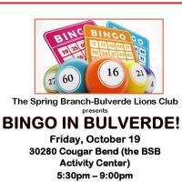 Bingo In Bulverde! hosted by the Spring Branch Bulverde Lions Club