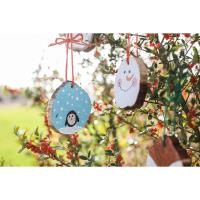 Kids Christmas Craft Wood Sliced Ornaments @ Spring Creek Gardens