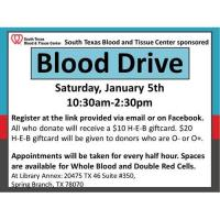 Emergency Blood Drive by South Texas Blood and Tissue Center