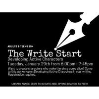 The Write Start - Developing Active Characters