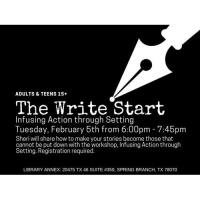 The Write Start - Infusing Action through Setting