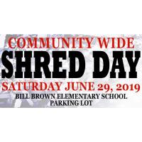 Community Wide Shred Day
