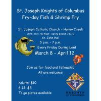 St Joseph Knights of Columbus Fry-day Fish & Shrimp Fry