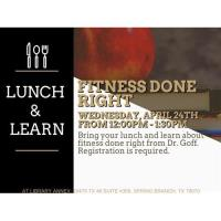 Lunch and Learn - Fitness Done Right