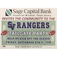 SV Rangers Football tailgate @ Sage Capital Bank
