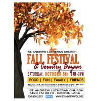 St. Andrew Lutheran Church Fall Festival and Country Bazaar