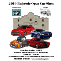 2019 Bulverde Open Car Show hosted by San Antonio Mustang Club