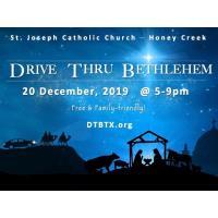"""3rd Annual """"Drive Thru Bethlehem"""" at St Joseph-Honey Creek Catholic Church"""