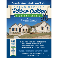 New Home Reveal & Ribbon Cutting for Imagine Homes in Highland Estates