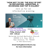"""How Not to Die: the role of diet in preventing, arresting & reversing our top 15 killers"""