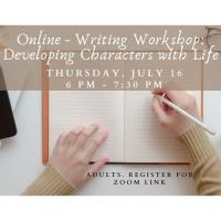 Online - Writing Workshop: Developing Characters with Life