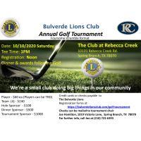 Bulverde Lions Club Annual Golf Tournament