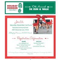 10th Annual Holiday Hunger Run & Walk