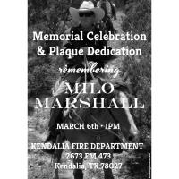 Memorial Service for Milo Marshall