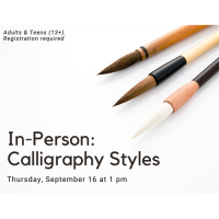 In Person- Calligraphy Styles