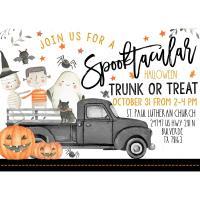 Spooktacular Halloween Trunk or Treat at St Paul Lutheran Church
