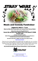 Stray Wars- a music and comedy event to benefit Animal Rescue Connections