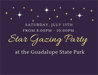 Star Gazing Party at the Guadalupe State Park
