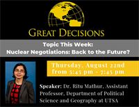 Great Decisions: Nuclear Negotiations: Back to the Future?