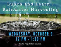 Lunch and Learn - Rainwater Harvesting