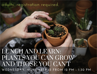Lunch and Learn - Plants You Can Grow, and Those You Can't