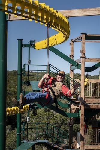 Zip Rail on Twisted Trails at Natural Bridge Caverns