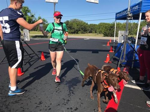 Even our four legged friends enjoyed the race!