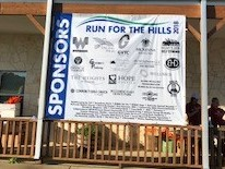 Run For The Hills 2018 Thank you banner