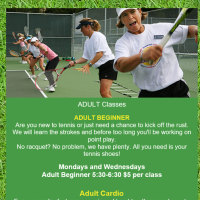 Spring Branch Tennis offers Adult Beginner & Cardio Classes