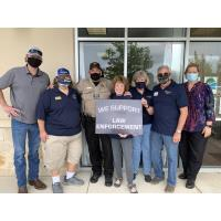 Spring Branch Satellite Club and New Braunfels Kiwanis Club Show Support for Law Enforcement