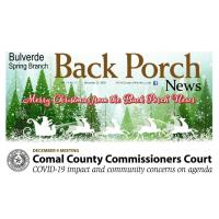 Bulverde Spring Branch - The Back Porch News - Dec 25th Edition