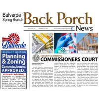Bulverde Spring Branch - The Back Porch News - Feb 26, 2021 Edition