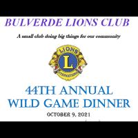 2021 Bulverde Lions Club Wild Game Dinner