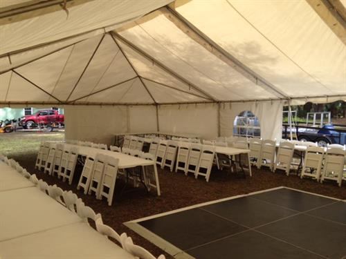Tent, Tables and Chairs Rental