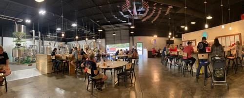 Taproom and brewing area