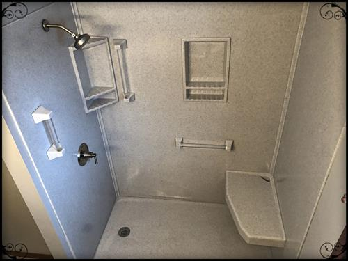 Another bathtub to shower conversion. Shower door was installed after the photo was taken.
