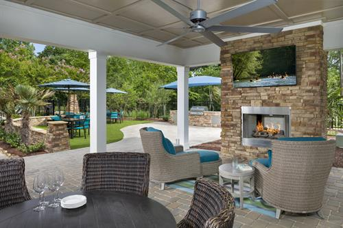 Encore at Briar Chapel 55+ Amenity Center Porch and Grill Area