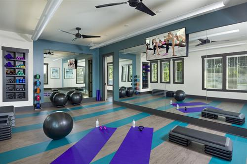 Encore at Briar Chapel 55+ Amenity Center Yoga Room