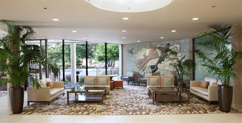 Main Lobby, with some of the hotel's original NC artwork