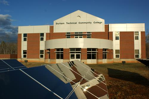 The Durham Tech Orange County Campus is located in the Waterstone Development outside Hillsborough and holds 22 instructional spaces, including classrooms, computer and science labs, a library, flexible use space, instructional and student support services areas.