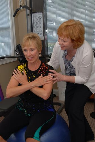 Physical therapy is one of the many areas of support TurningPoint provides for women and men with breast cancer.