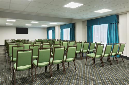 Our meeting room can seat up to 60.