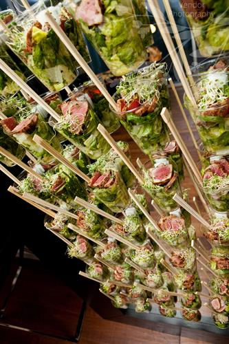 Party innovation, easy-to-eat Ahi Tuna in a glass.