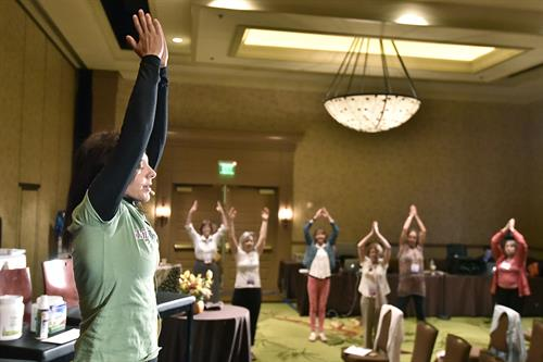 Leading movement breaks at SHINE Conference