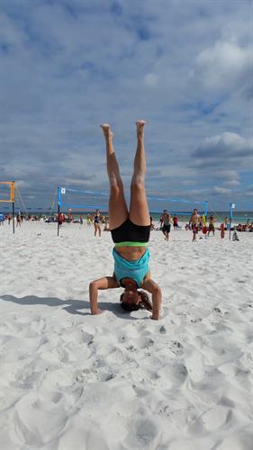 Fun!!! Volleyball tourney, beach, sun = heaven!