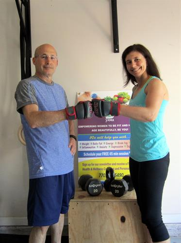 Training a client - Celebrating one year post heart surgery!