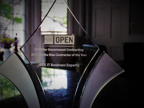 IBEX AmEx On The Rise Contractor of the Year Award - April 2016